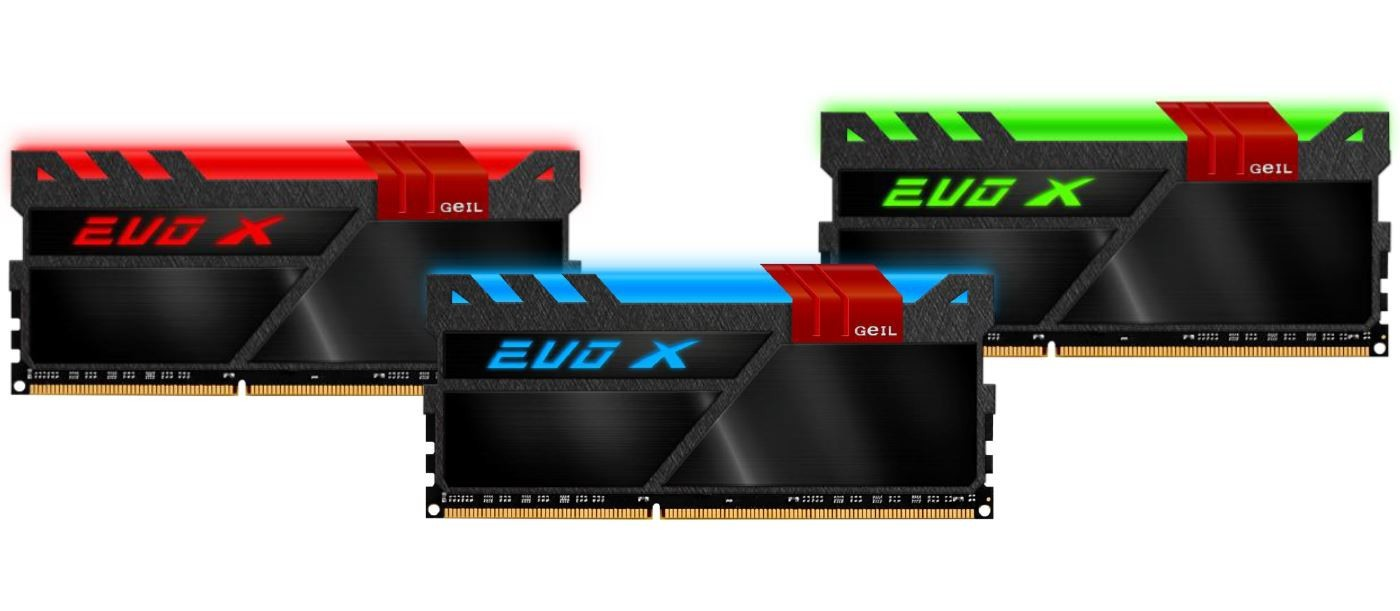 GeIL Launches its EVO-X Series DDR4 Memory with RGB Lighting