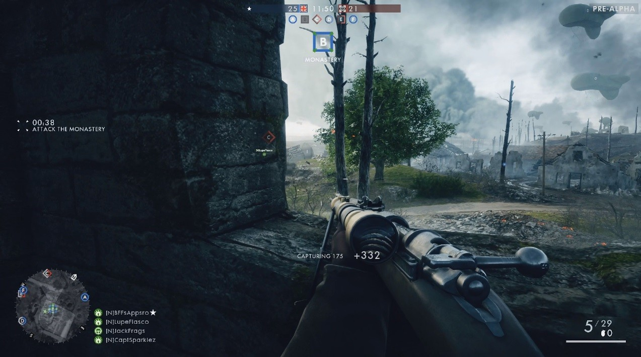 The battlefield 1 s alpha gameplay with full settings menu