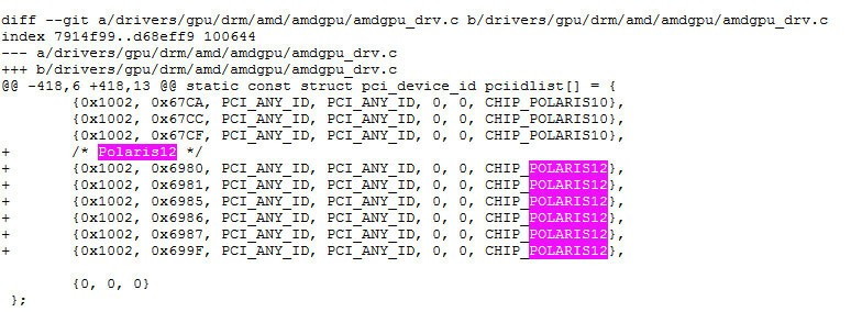 """AMD """"Polaris 12"""" spotted in Linux Drivers"""