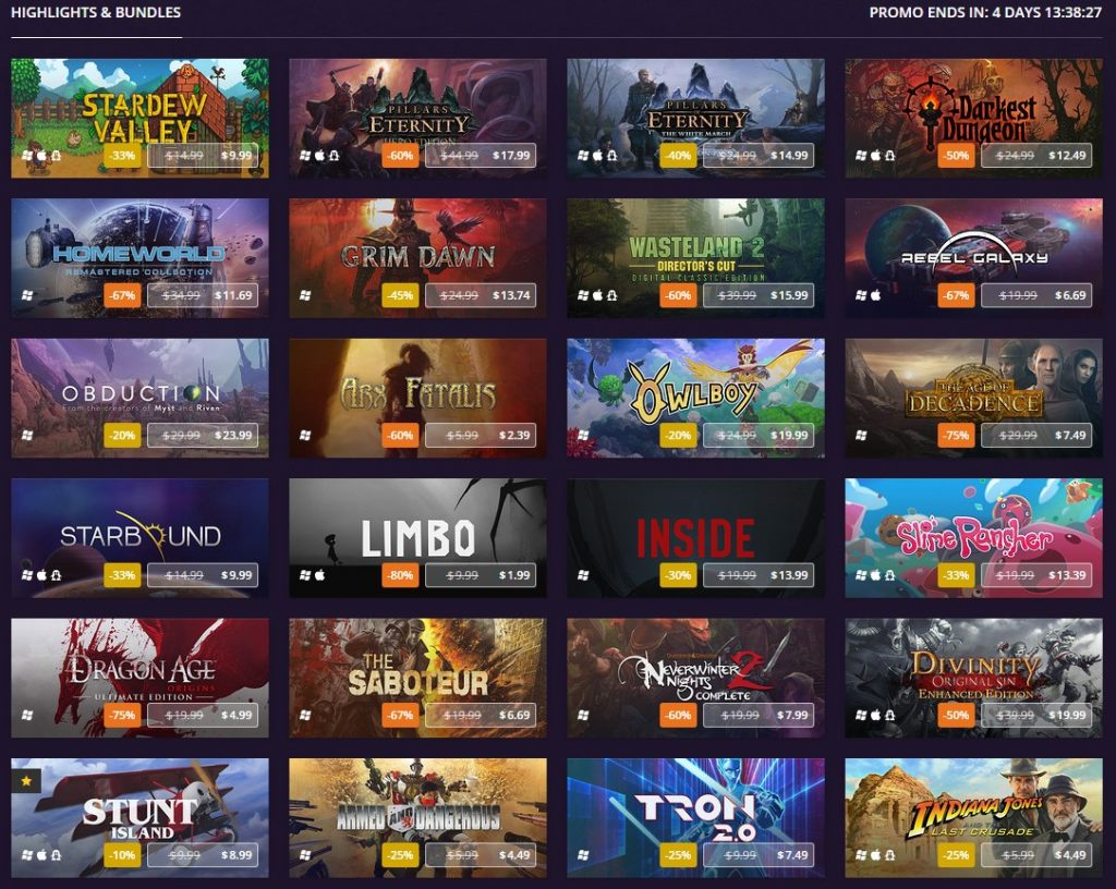 The GOG Goodbuy 2016 Sale has now began