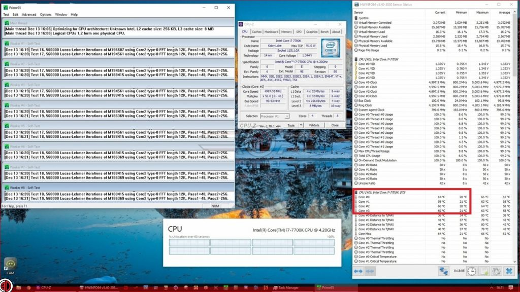 Intel i7 7700K TIM replacement results in 26 degrees' lower temps