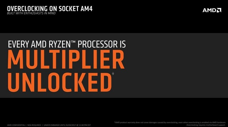 All AMD Ryzen CPUs will be unlocked and all X300 series chipsets overclocking capable
