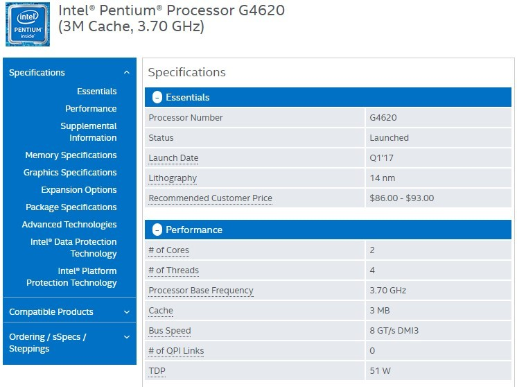 Intel new Kaby Lake Pentium CPUs will come with Hyperthreading
