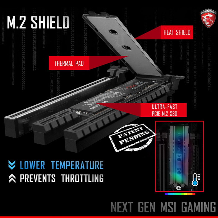 MSI's M.2 Shield has been found to negative effect on SSD temperatures