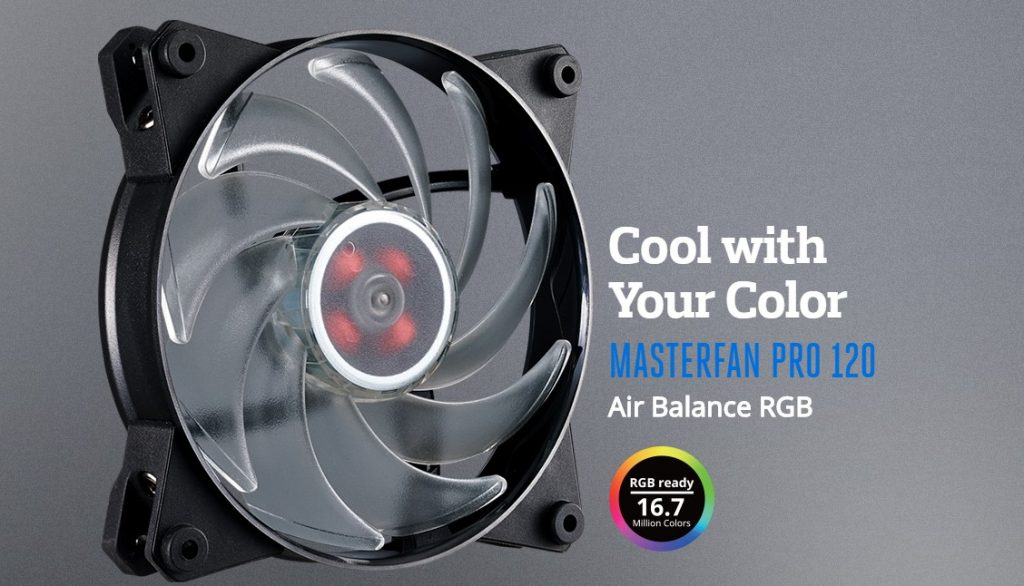 Cooler Master announced their new MasterFan Pro RGB fans