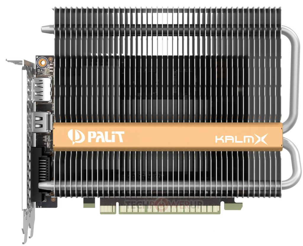 Palit releases the Passive GeForce GTX 1050 Ti KalmX Silent Graphics Card