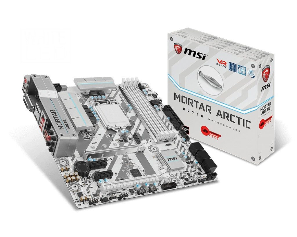 MSI Announces New ARCTIC Range of ATX and mATX Z270 and B250 white GAMING Motherboards