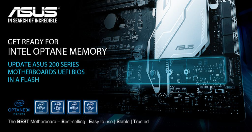 ASUS 200-series Motherboards gets BIOS Update for Intel Optane Support
