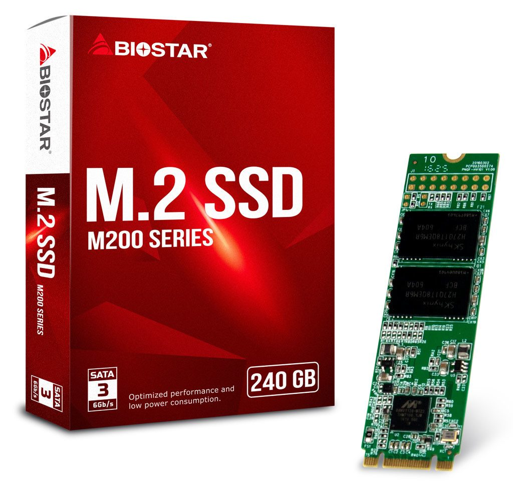 BIOSTAR Announces the M200 Series M.2 SSD