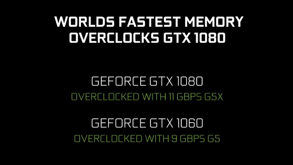 NVIDIA's AIB Partners Will Launch Overclock Models of GTX 1080 and GTX 1060 With Faster GDDR5, GDDR5X Memory