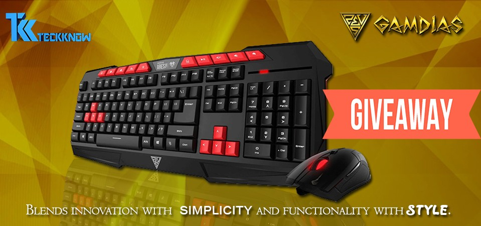 Gamdias Aries GKC100 Keyboard and Mouse Combo Giveaway