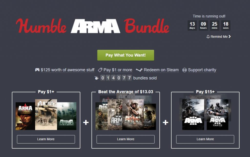 The Humble ARMA bundle is now live offing ARMA series