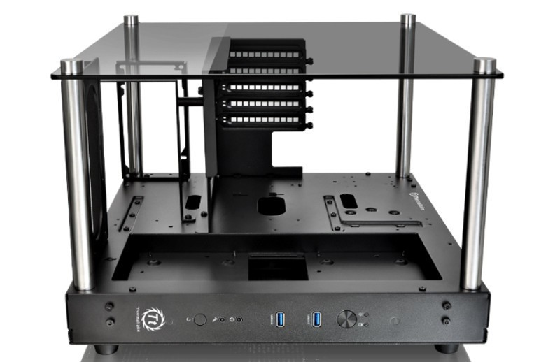 Thermaltake new Core P1 Tempered Glass Edition mini-ITX wall-mount chassis with Tt LCS certification