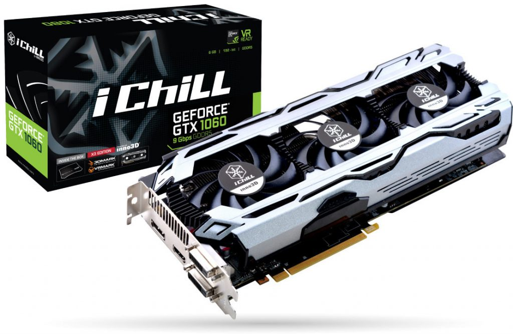 Inno3D Announces GeForce GTX 1080 11 Gbps and GTX 1060 9 Gbps Graphics Cards