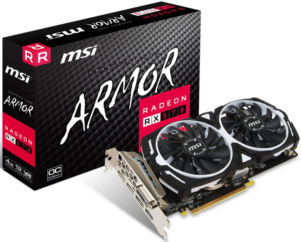 MSI Announces Radeon RX 580 and RX 570 Graphics Cards