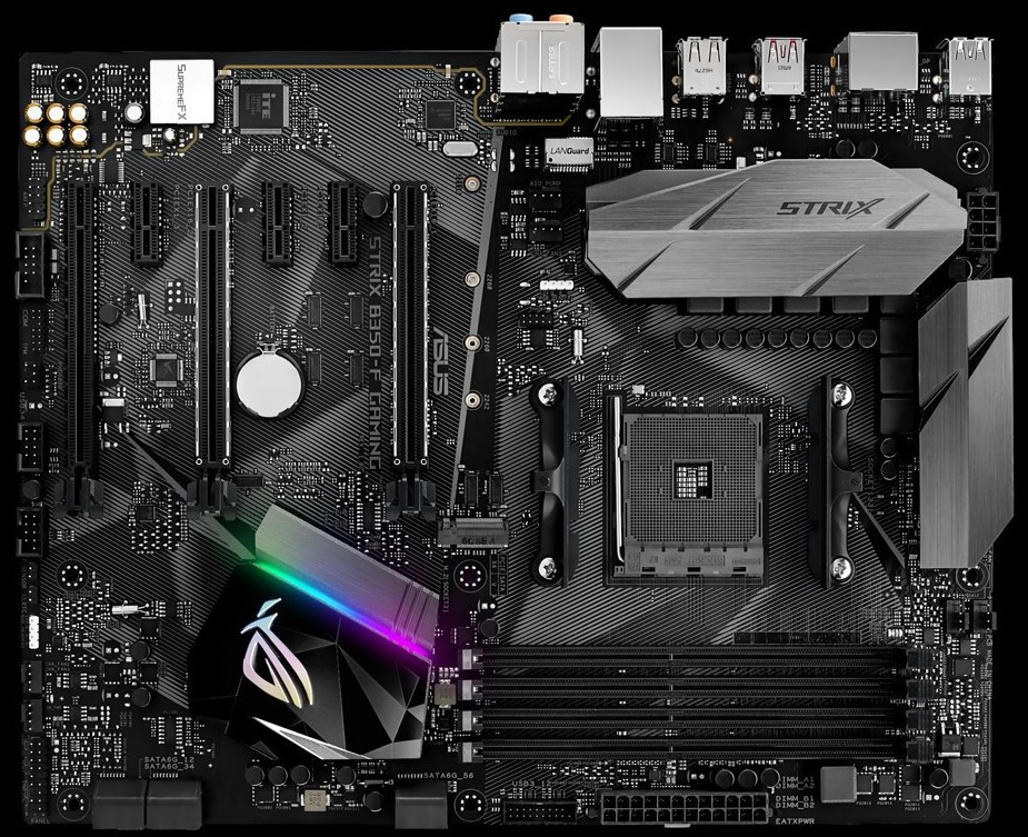 ASUS unveiled the ROG STRIX B350-F Gaming Motherboard