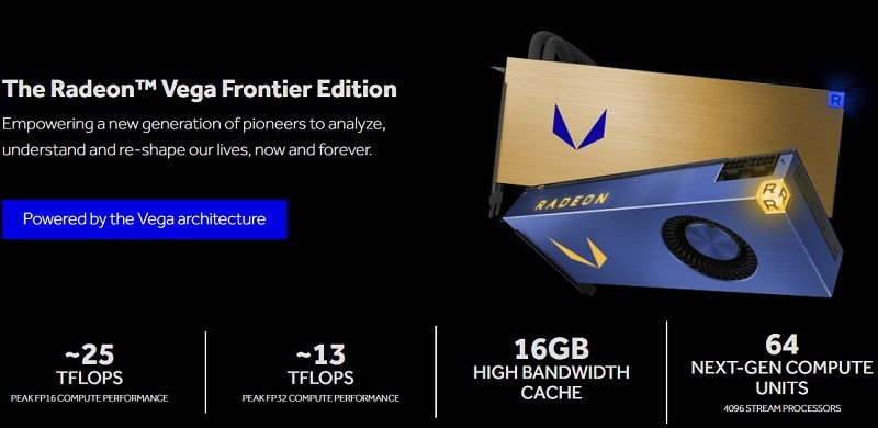 AMD officially announced the Radeon Vega Frontier Edition specifications