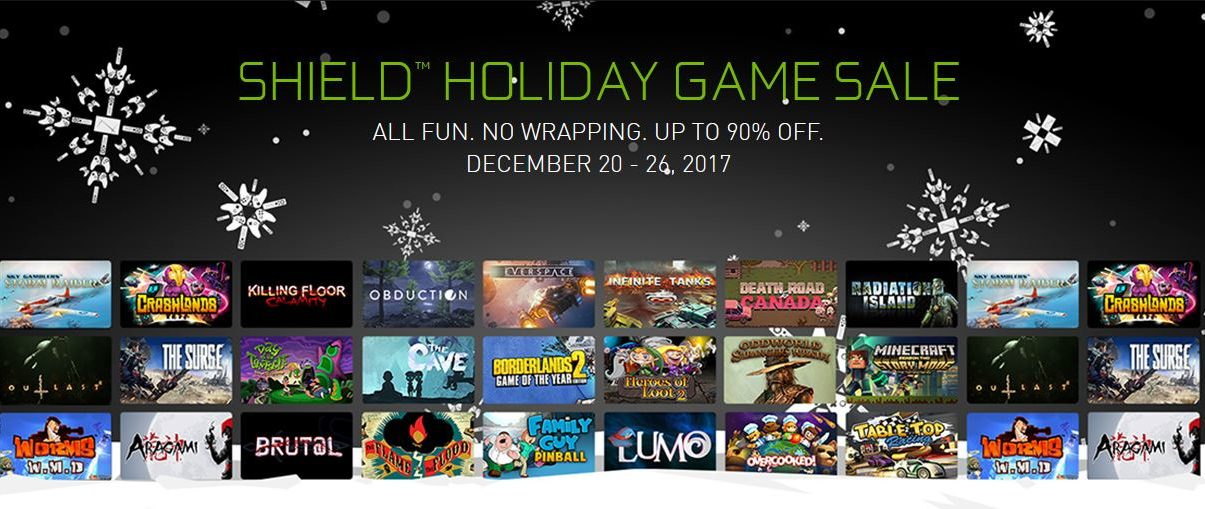 NVIDIA Shield Holiday Game Sale: Save Up to 90% on Games ...