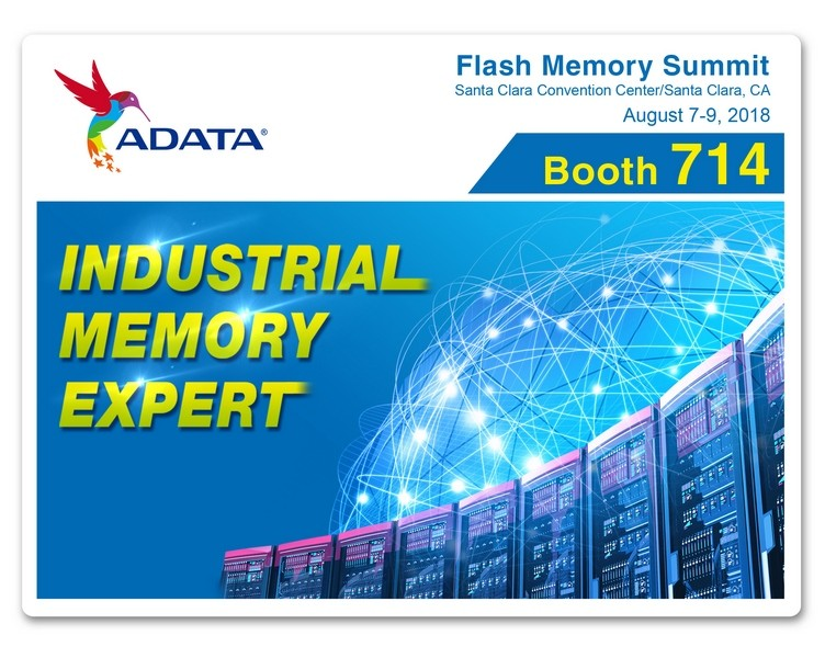 ADATA to Showcase Its Latest Industrial and Commercial Solutions at Flash Memory Summit 2018
