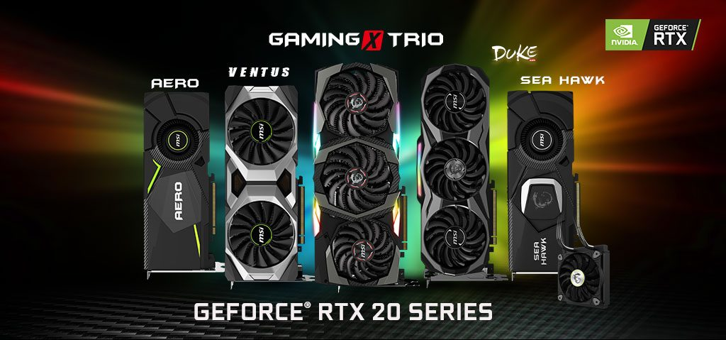 MSI unveils its custom NVIDIA GeForce RTX series cards