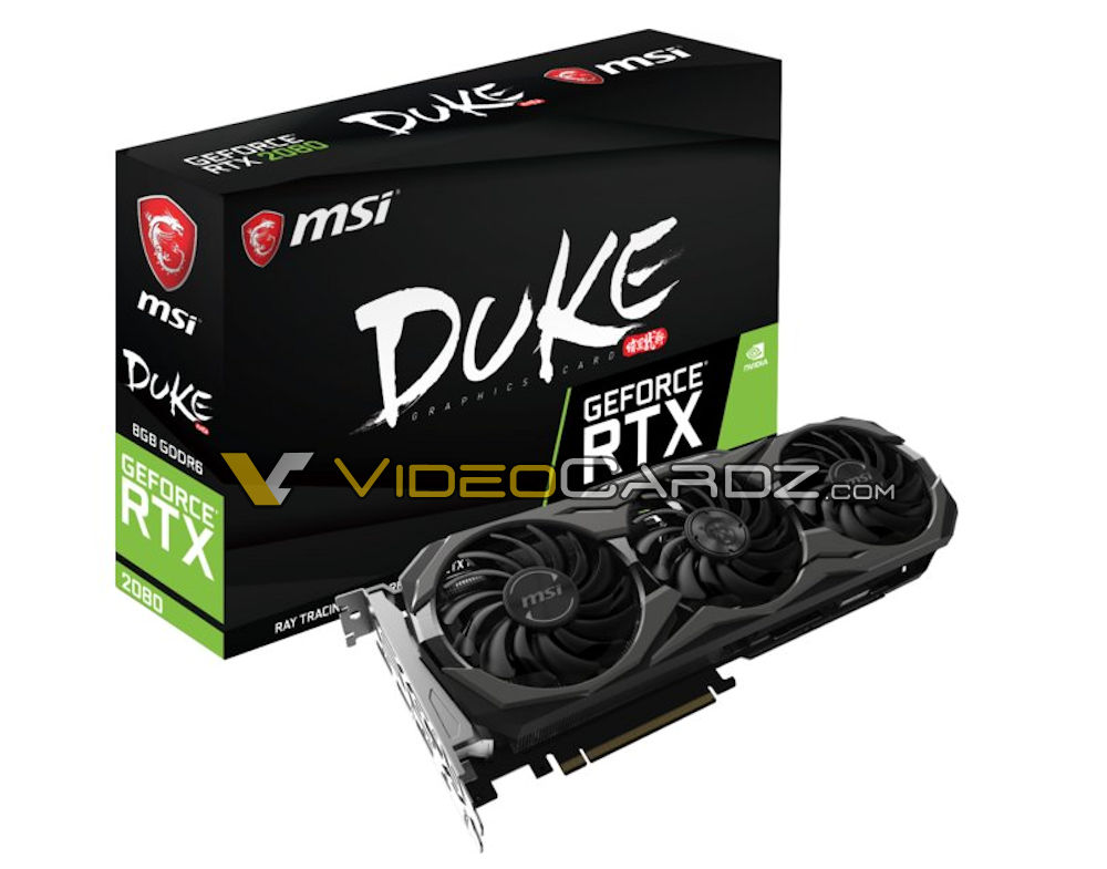 MSI GeForce RTX cards with triple-fan cooler design spotted