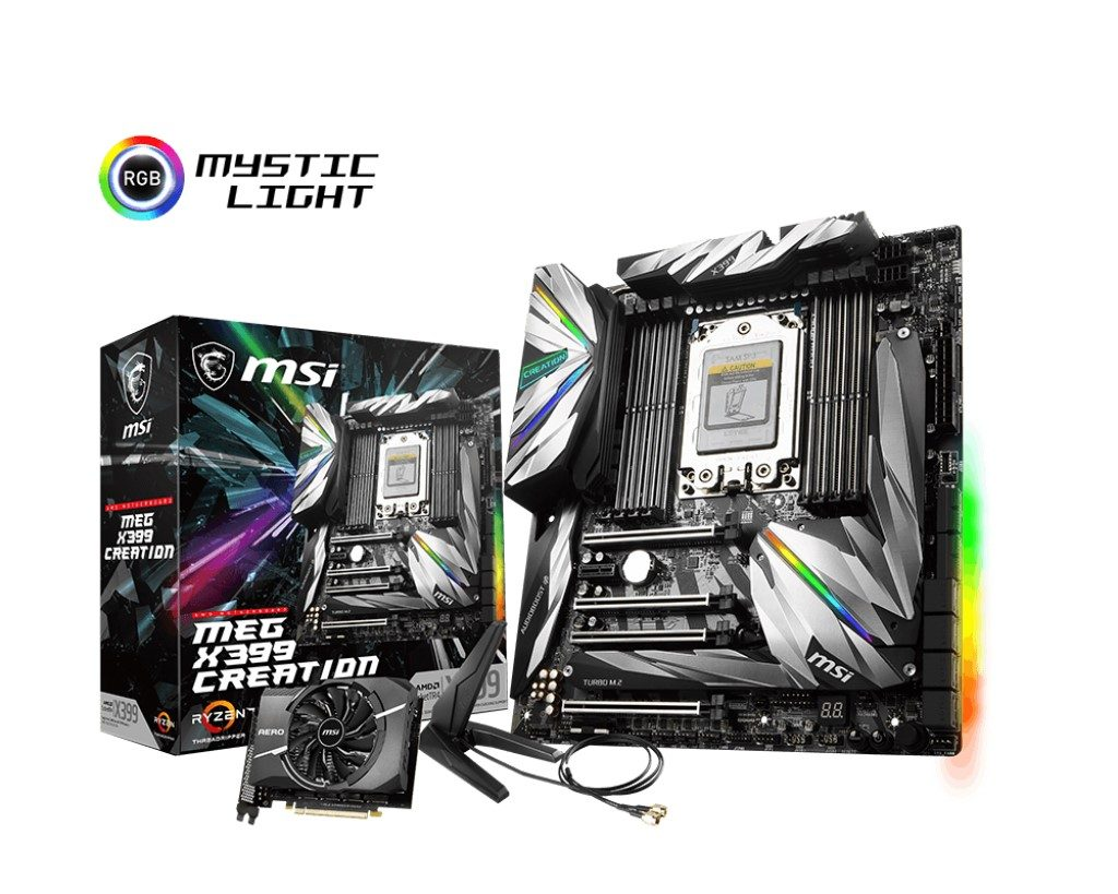 Create Your Masterpiece With MSI MEG X399 Creation
