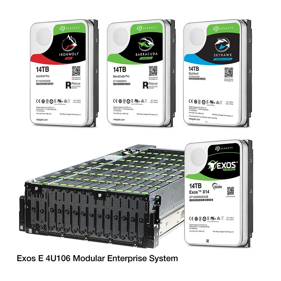 Seagate Launched Industry's Most Advanced 14TB Data Storage Portfolio
