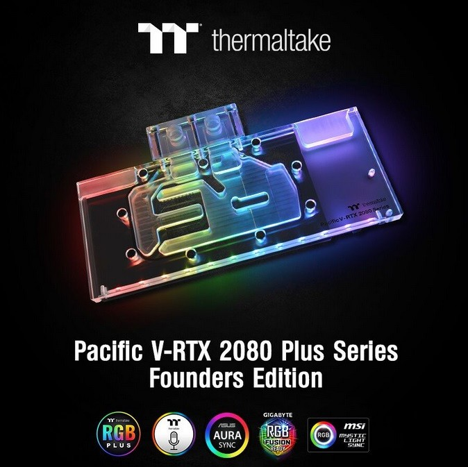 Thermaltake Pacific V-RTX 2080 Plus Series Founders Edition Designed for RTX 2080/2080Ti Graphics Cards