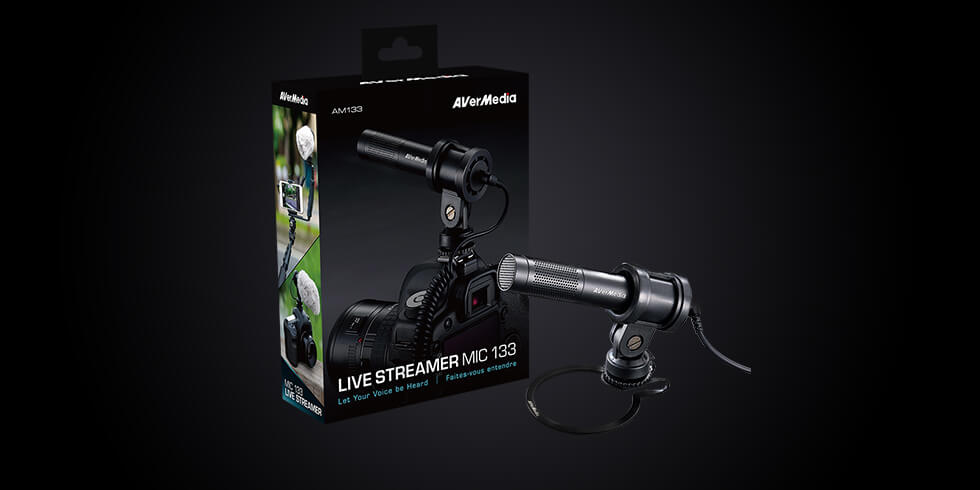 Let Your Voice Be Heard: AVerMedia Launches 'AM133' for Live Streamers