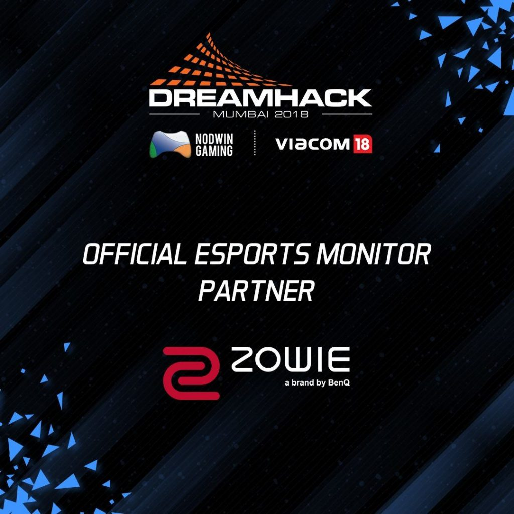 BenQ ZOWIE announces association with Dreamhack 2018 – Mumbai as the official eSports Monitor Partner