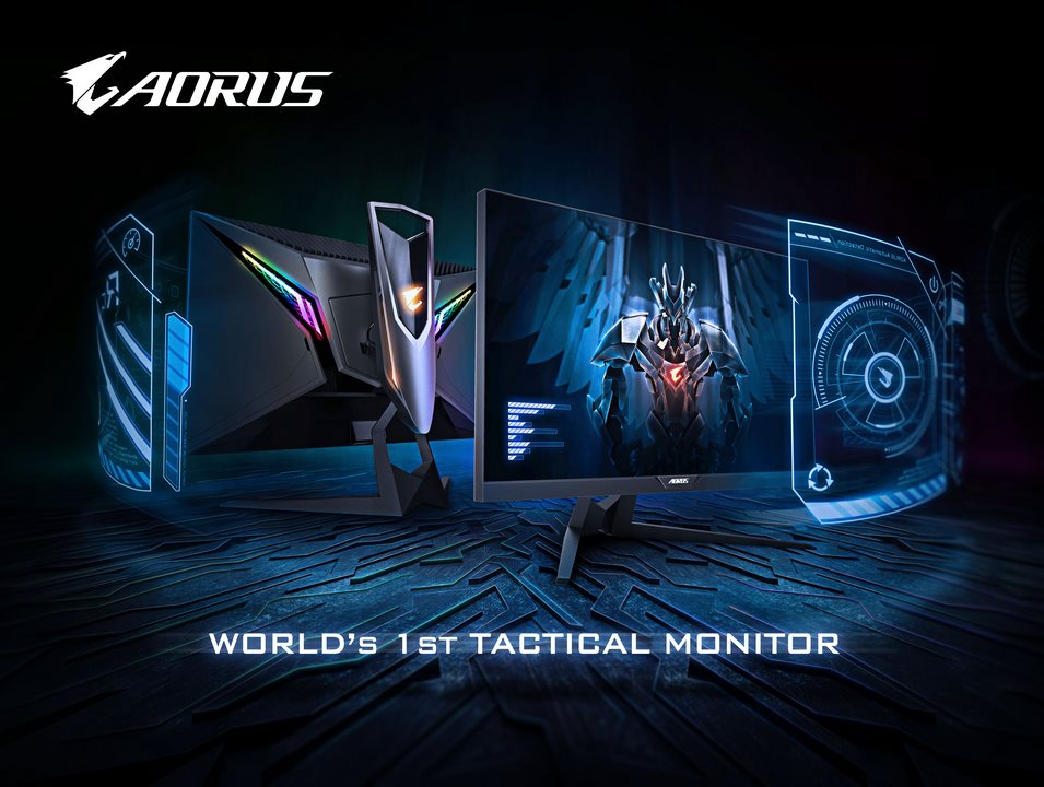 World's First Tactical Gaming Monitor AORUS AD27QD Announced