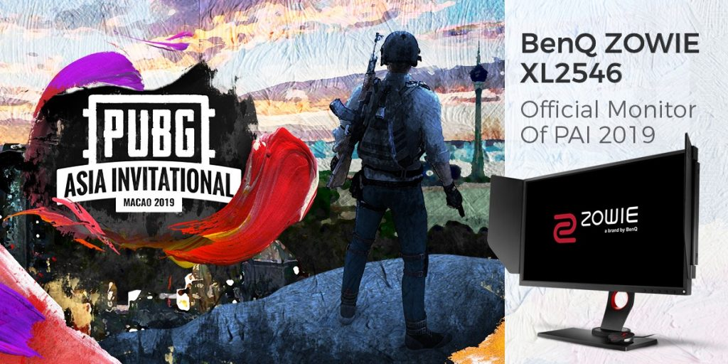 BenQ announces ZOWIE XL2546 as the Official Monitor of PUBG ASIA INVITATIONAL 2019 in Macau