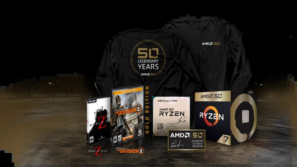 AMD Announces 50th Anniversary Commemorative Ryzen and Radeon Products