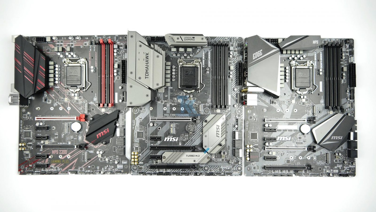 MSI MPG Z390 Gaming Edge AC, MPG Z390 Gaming Plus and MAG
