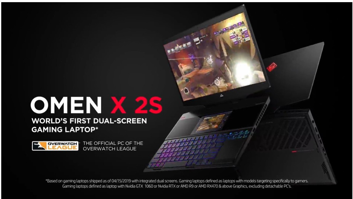 HP Launches World's First Dual‐Screen Gaming Laptop OMEN X 2S