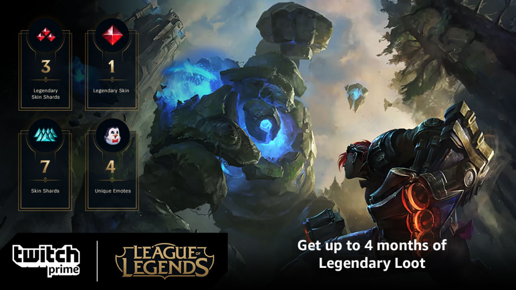 Twitch Prime subscribers can get free League of Legends skins/loot