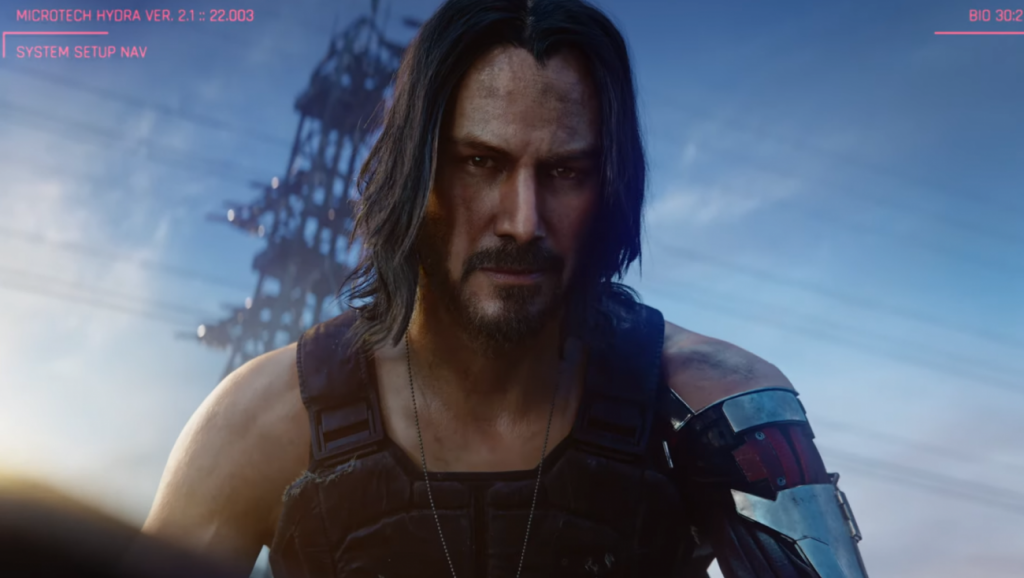 Keanu Reeves stars in Cyberpunk 2077 will release in April 2020
