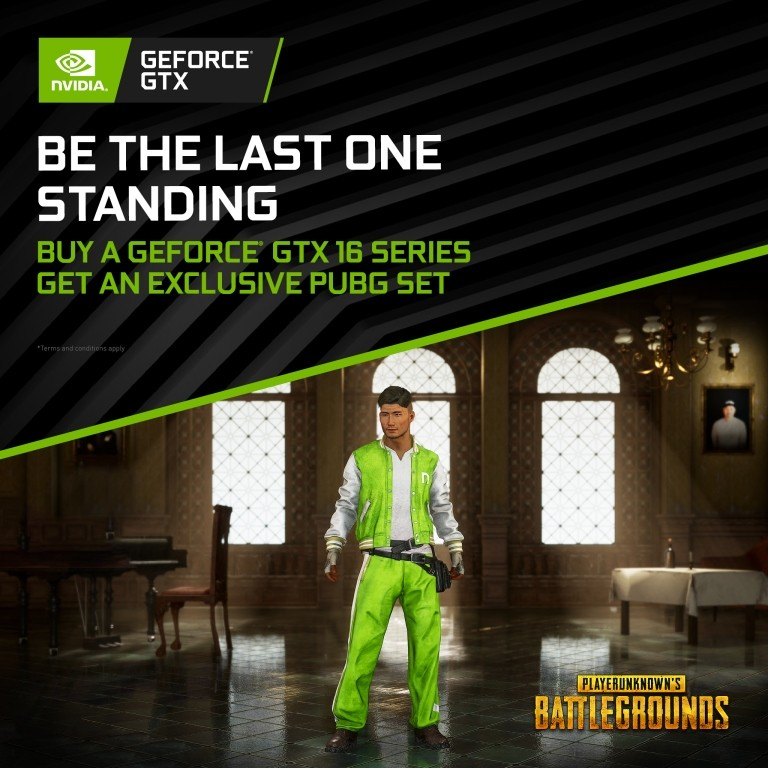 Asia-Exclusive Bundle: Buy GeForce GTX 16-series, Get the Exclusive NVIDIA Tracksuit for PLAYERUNKNOWN'S BATTLEGROUNDS